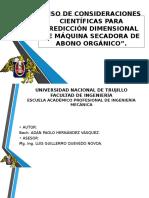 Uso de Consideraciones Científicas Para Predicción Dimensional