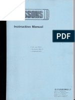 Cussons Boiler Instructon Manual