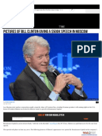 Clinton-Podesta Russian Connections- Pictures of Bill Clinton Giving a $500K Speech in Moscow.pdf