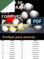 NOMENCLATURA DE COMPUESTOS ORGANICOS,POWERP