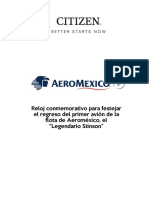 Reloj Citizen - Aeromexico Stinson