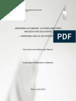 Sindrome Autoimune Autoinflamatorio Induzido Por Adjuvantes