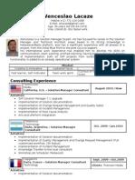 Sap Solution Manager Expert - Resume - CV - Wenceslao Lacaze