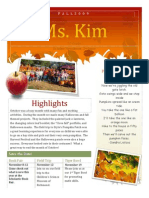 Fall Newsletter Portfolio