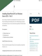 Www.stephensaw.me Installing Sharepoint 2013 on Windows