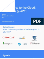 AWS Meetup the Journey to the Cloud Databases @ AWS Share