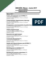 Programacion Marzo - Junio 2017 Jesús María