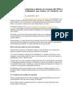 Sentencia Sobre Responsabilidad de Las Empresas en La Prevención de Riesgos Laborales