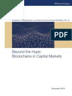 McKinsey CIB WP12 Blockchains in Capital Markets 2015