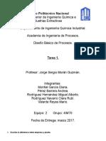 diseño basico de procesos
