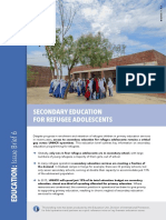 Secondary Education for Refugee Adolescents