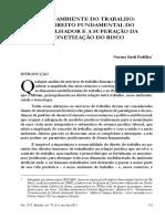 Artigo - Meio Ambiente Do Trabalho - Um Direito Fundamental Do Trabalhador e a Superação Da Monetização Do Risco