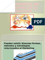 La Importancia Del Marketing en La Educacion