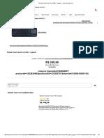 Teclado Touch Sem Fio K400 - Logitech - Americanas