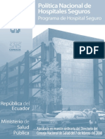 ECU_Politica Hospitales Seguros