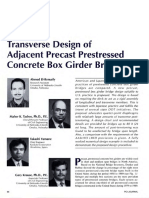 Transverse Design of Adjacent Precast Prestressed Concrete Box Girder Bridges