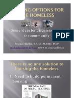 Housing Options for the Homeless