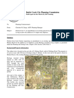 Battle Creek city report and recommendation on proposed Ganton expansion