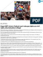 LGBT Federal Court Rules Gay Rights Are Civil Rights