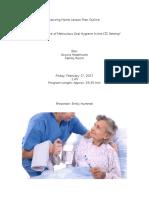 nursing home lesson plan