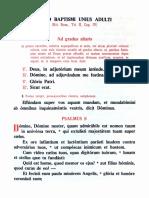 Adult Baptism - New Sacristy Manual (1961)