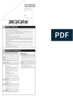 ZOOM Delay E_508- Delay Processor Manual PDF