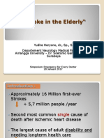 Stroke in the elderly