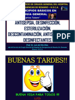 CLASE DE ANTISEPSIA DESINFECCIÓN ANTISÉPTICOS Y DESINFECTANTES.