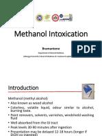 Intoxication Methanol