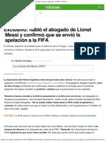 Exclusivo Habló El Abogado de Lionel Messi y Confirmó Que Se Envió La Apelación
