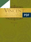 Vincent - Vol. 01 - Estudo No Vocabulário Grego No Novo Testamento