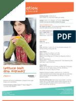 Free Knit Pattern - Lettuce Knit Arm Warmers SN0111