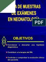 Toma de Muestras en Examenes de Neo