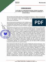 Comunicado Rectorado 09122016