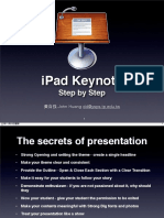 iPad Keynote Step by Step