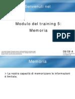 Modulo 5 a. Memoria Italiano Completo