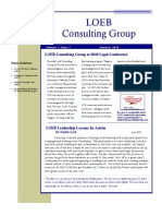 Loeb Consulting Group Newsletter Summer 2010