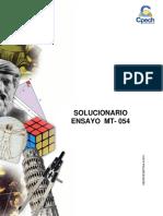 Solucionario Ensayo MT 054 2016