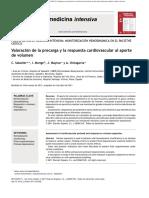 Valoracion de La Precarga y Respuesta Al Aporte de Volumen