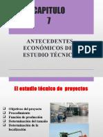 Unidad 7 - Antecedentes Económicos Del Estudio Técnico