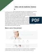 Diseño de Los Sitios Web de Medicina- Colores Que Funcionan