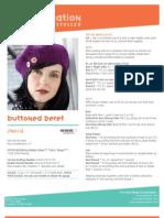 Free Knit Pattern - Buttoned Beret SN0112