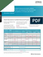 Hitachi Datasheet Certified Professional Program