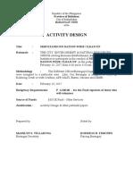 Activity Design 2017