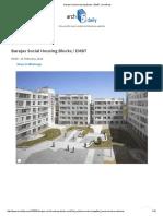 Barajas Social Housing Blocks _ EMBT