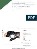 Luva Meio Dedo Couro Moto Motociclista Carro Dirigir - R$ 74,50 em Mercado Livre