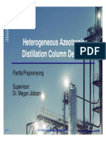Heterogeneous Azeotropic Distillation Column Design