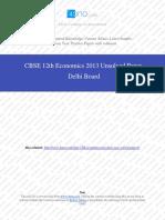 Econimics 2013 Unsolved Paper Delhi Board