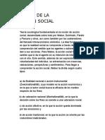 Teoría de La Accion Social