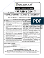 JEE Main 2017 Solution Paper 1 Code D